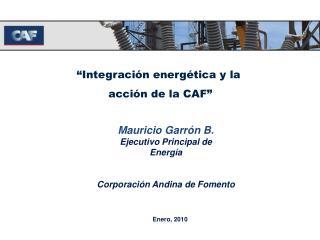 Integraci n energ tica y la   acci n de la CAF