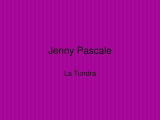Jenny Pascale