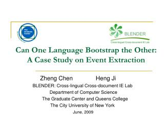 Can One Language Bootstrap the Other: A Case Study on Event Extraction