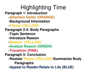 Highlighting Time