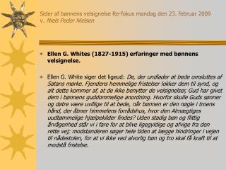 Sider af b nnens velsignelse Re-fokus mandag den 23. februar 2009 v. Niels Peder Nielsen