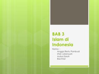 BAB 3 Islam di Indonesia