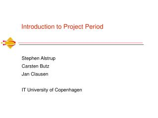 Introduction to Project Period