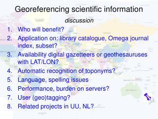 Georeferencing scientific information