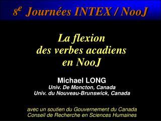 8 e Journées INTEX / NooJ