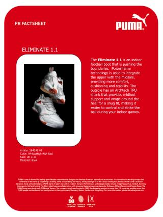 Article: 184292 02 Color: White/High Risk Red Size: UK 3-13 Material: iEVA