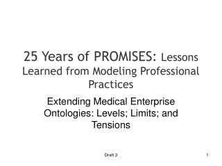 25 Years of PROMISES:  Lessons Learned from Modeling Professional Practices