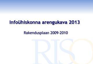Infoühiskonna arengukava 2013