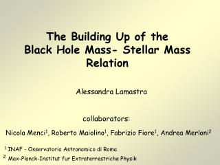The Building Up of the  Black Hole Mass- Stellar Mass  Relation