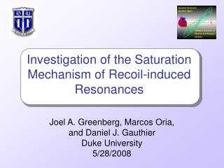 Investigation of the Saturation Mechanism of Recoil-induced Resonances