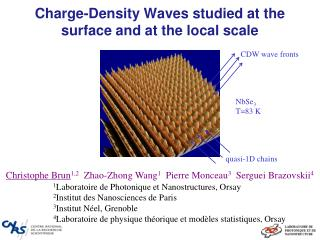 Charge- Density Waves studied at  the surface and  at  the local  scale