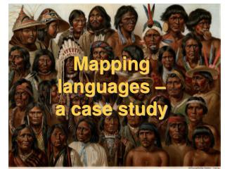 Mapping languages – a case study