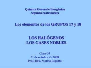 LOS HALÓGENOS LOS GASES NOBLES