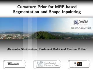 Curvature Prior for MRF-based  Segmentation and Shape Inpainting