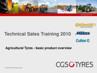 Agricultural Tyres -  b asic product overview