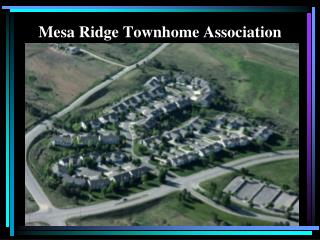 Mesa Ridge Townhome Association