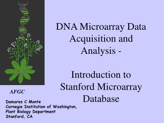 DNA Microarray Data Acquisition and Analysis -  Introduction to Stanford Microarray Database