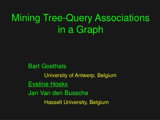 Mining Tree-Query Associations in a Graph