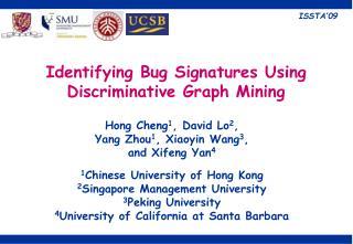 Identifying Bug Signatures Using Discriminative Graph Mining