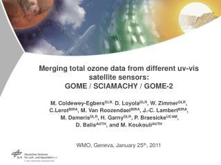 Merging total ozone data from different uv-vis satellite sensors:  GOME / SCIAMACHY / GOME-2