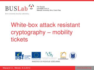 White-box attack resistant cryptography  – mobility tickets