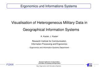 Ergonomics und Informations Systems