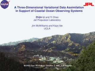 A  Three-Dimensional Variational Data Assimilation  in Support of Coastal Ocean Observing Systems