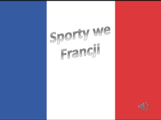 Sporty we Francji