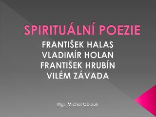 SPIRITUÁLNÍ POEZIE