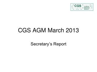 CGS AGM March 2013