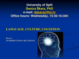 LANGUAGE, CULTURE, COGNITION Week 1:  INTRODUCTION: KEY ISSUES
