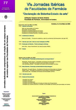 VI s  Jornadas Ibéricas de Faculdades de Farmácia