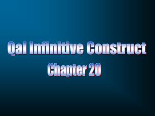 Qal Infinitive Construct