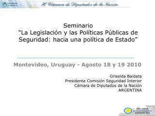 """Seminario  """"La Legislación y las Políticas Públicas de Seguridad: hacia una política de Estado"""""""