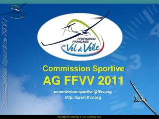 Commission Sportive AG FFVV 2011
