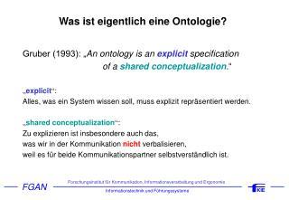 Was ist eigentlich eine Ontologie?
