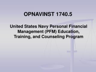 OPNAVINST 1740.5