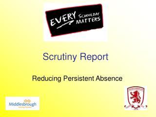 Scrutiny Report