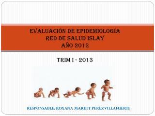 EVALUACIÓN DE EPIDEMIOLOGÍA RED DE SALUD ISLAY  AÑO 2012   TRIM I - 2013