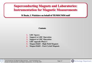 Superconducting Magnets and Laboratories: Instrumentation for Magnetic Measurements