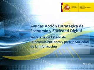 Ayudas Acción Estratégica de Economía y Sociedad Digital