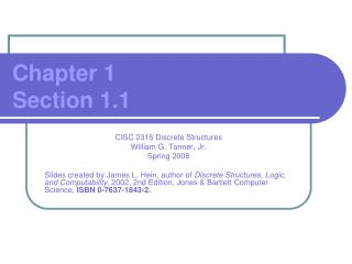 Chapter 1 Section 1.1