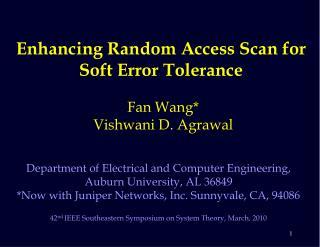 Enhancing Random Access Scan for Soft Error Tolerance