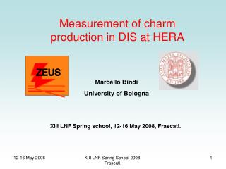 Measurement of charm production in DIS at HERA