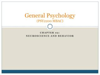General Psychology PSY2200 MBAC