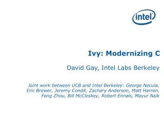 Ivy: Modernizing C