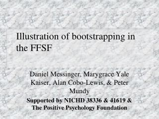 Illustration of bootstrapping in the FFSF