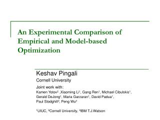 An Experimental Comparison of  Empirical and Model-based Optimization