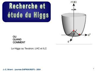 Le Higgs au Tevatron, LHC et ILC