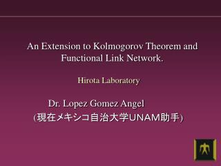 An Extension to Kolmogorov Theorem and Functional Link Network.
